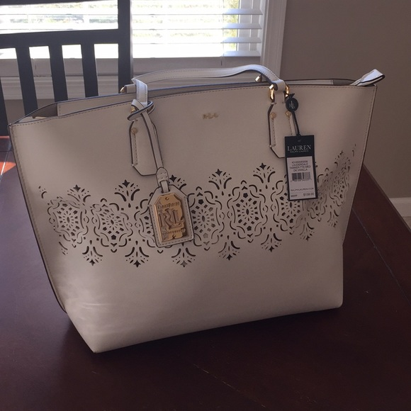 325ab03caf71 NWT Ralph Lauren Lauderdale Tanner tote